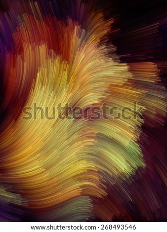 Dynamic Color series. Backdrop design of streams of paint to provide supporting composition for works on forces of nature, art, design and creativity - stock photo