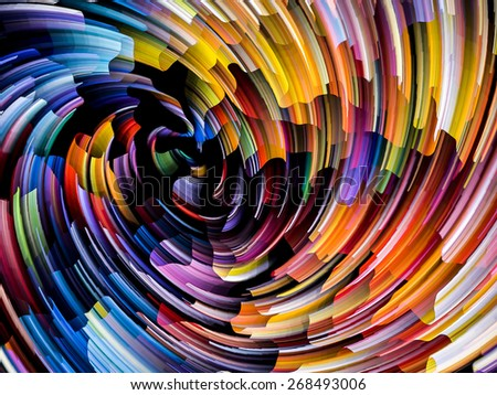 Dynamic Color series. Design composed of streams of paint as a metaphor on the subject of forces of nature, art, design and creativity - stock photo