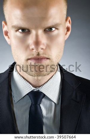Dynamic image of a handsome young businessman