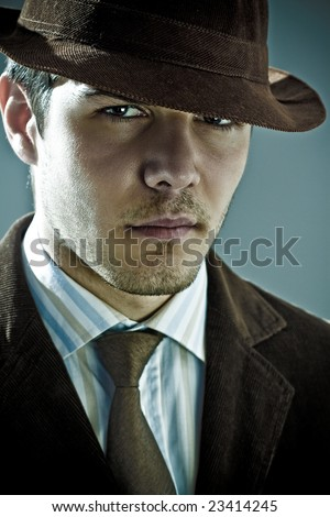 Dynamic image of a handsome young man shot in studio