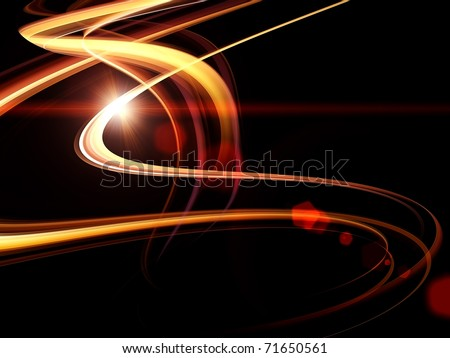 Dynamic interplay of attractive forms on the subject of modern technologies, communications, energy, motion and space - stock photo