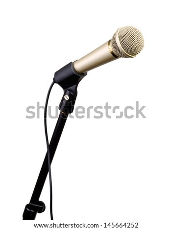 Dynamic microphone on a white background. - stock photo