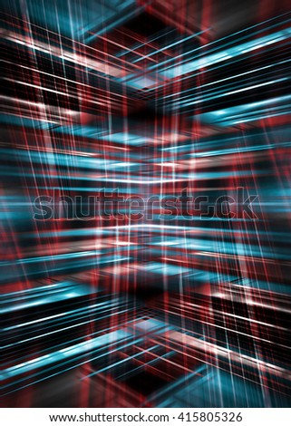 Dynamic red and blue light streaks background