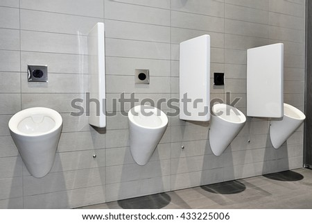 Dynamic view of a modern public toilett