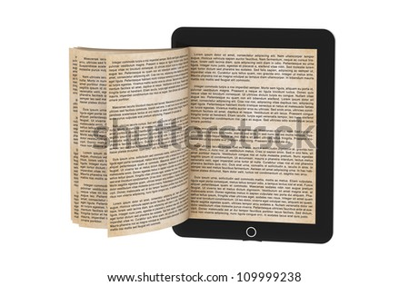 E-book isolated on white