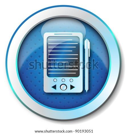 E-book reader icon - stock photo