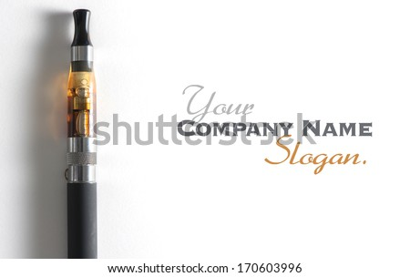 e-cigarette, with lots of copy space - stock photo