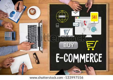 Business people use technology ecommerce internet stock for Lifestyle e commerce