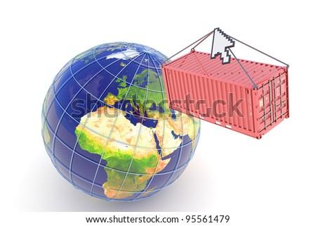 E-commerce cargo delivery concept - stock photo