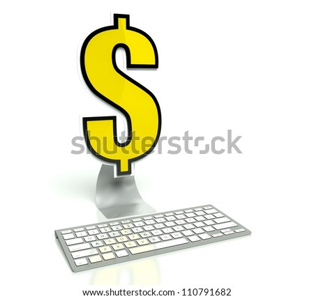 E-commerce concept, Banking online Pay by internet - stock photo