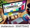 E-commerce Internet Global Marketing Purchasing Concept - stock photo