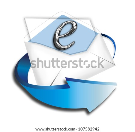 E-Commerce Letter. - stock photo