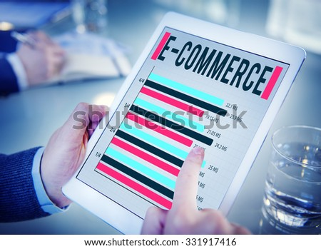 E-Commerce Online Marketing Strategy Corporate Concept