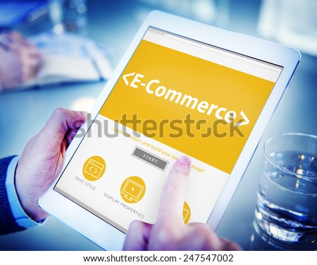 E-Commerce Shopping Online Contemporary Concepts - stock photo