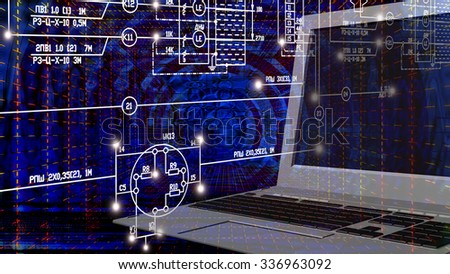 E-connection engineering technology. - stock photo
