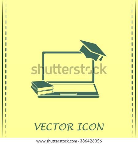 e-learning concept design, vector illustration - stock photo