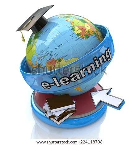 E-learning. Internet education concept - stock photo