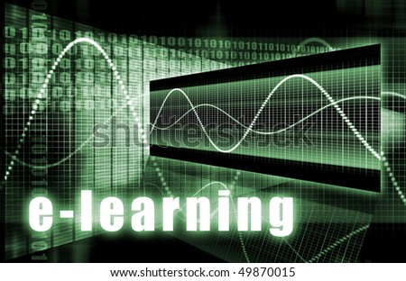 E-Learning Online Web Tech as Abstract Background - stock photo