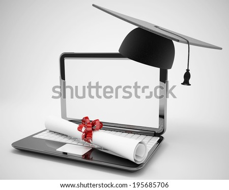 e learning or graduation concept