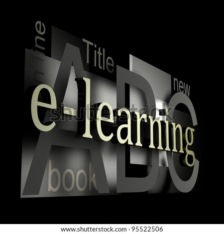 E-learning silver - stock photo
