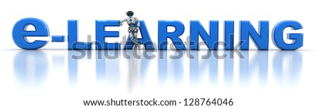 E-learnning and robot (done in 3d)