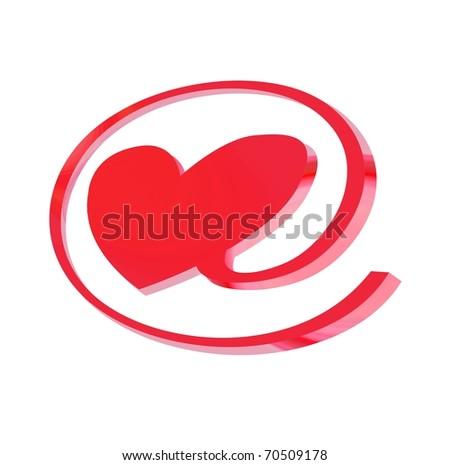 e-love sign - stock photo