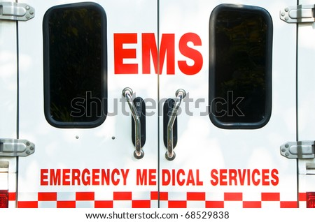 E.M.S. ambulance - stock photo