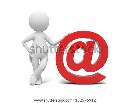 E-mail/A 3d people standing by an E-mail symbol
