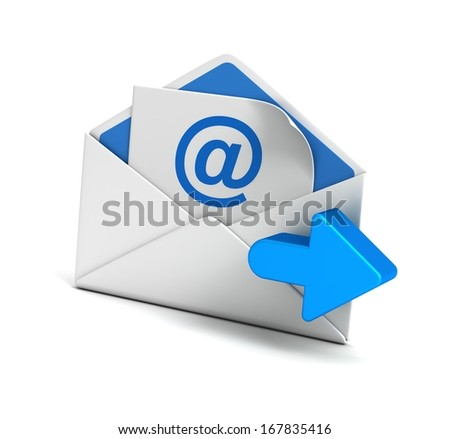 e mail envelope and arrow