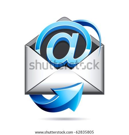 e mail icon - stock photo