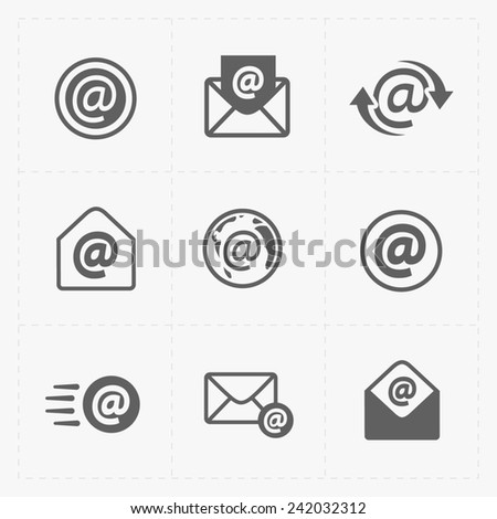 E-mail icons on White Background. - stock photo