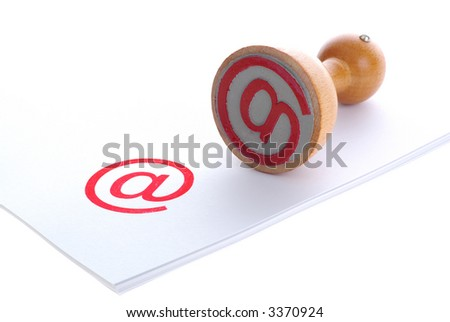 E-MAIL red rubber stamp - stock photo