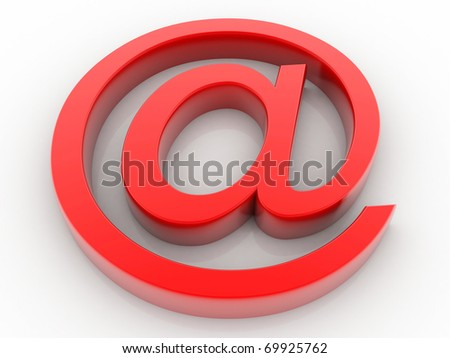 e mail sign - stock photo