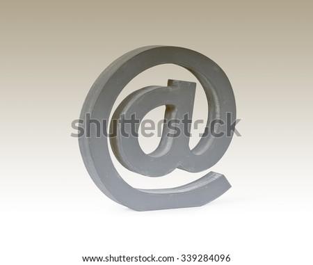 e-mail sign, symbol,  modern communication on the internet. - stock photo