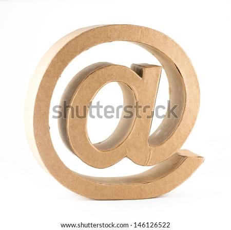 E-Mail simbol on white background - stock photo
