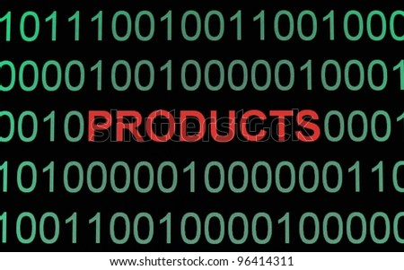 E- products - stock photo