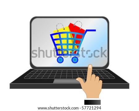 E-shopping - stock photo