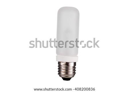 E27 Strobes lightbulb straight  isolated on white background - stock photo