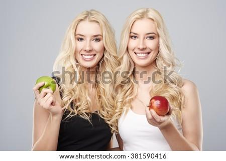 Each girl likes something else - stock photo