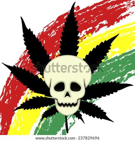 Eager marijuana - stock photo