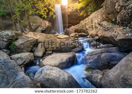 Eagle Falls in Cumberland Falls State Resort Park, Kentucky - stock photo