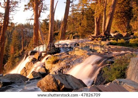 Eagle Falls sunrise - stock photo