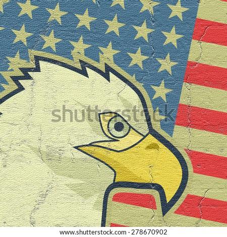 Eagle flag USA - stock photo