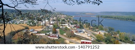 Eagle Point Park in Dubuque, Iowa - stock photo