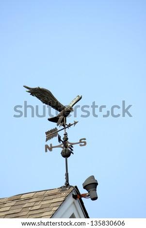 Eagle weather vane - stock photo