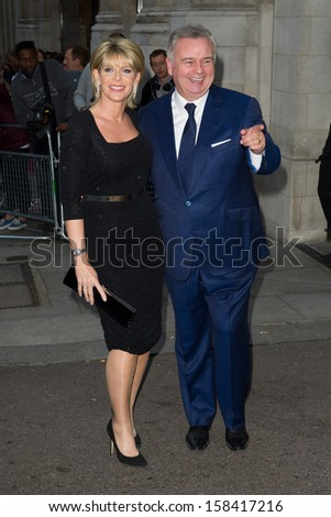 Eamonn Holmes and Ruth Langsford arriving for the 2013 Pride of Britain Awards, at the Grosvenor House Hotel, London. 07/10/2013