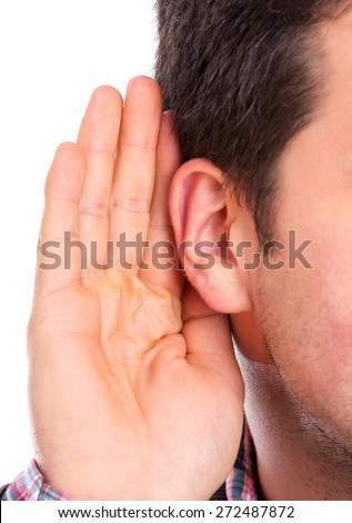 Ear listening - stock photo