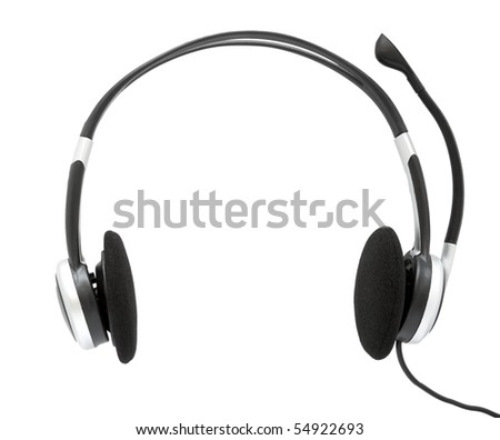 Ear-phones on a white background