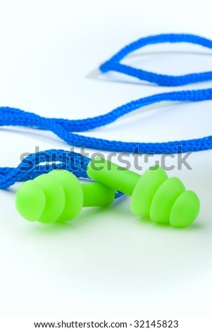 ear plugs - stock photo