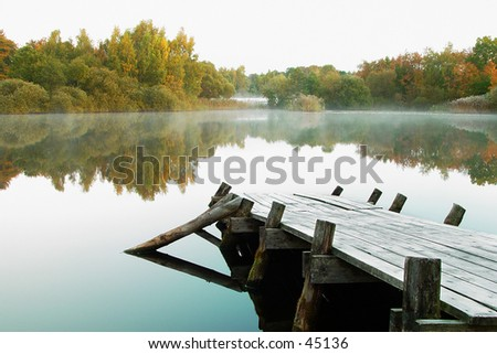 early morning - stock photo